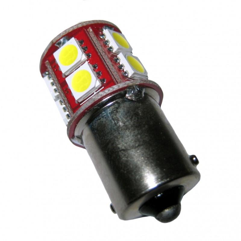 ampoule r10w p21w ba15s 13 leds blanches 6 volts led effect. Black Bedroom Furniture Sets. Home Design Ideas