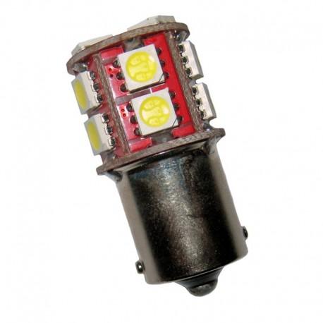 Ampoule R10W P21W BA15S 13 leds blanches 6 volts