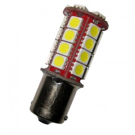 Ampoule P21W BA15S 30 leds blanches 6 volts