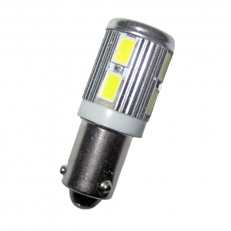 Ampoule led H21W BAY9S 10 leds 9 à 30 volts
