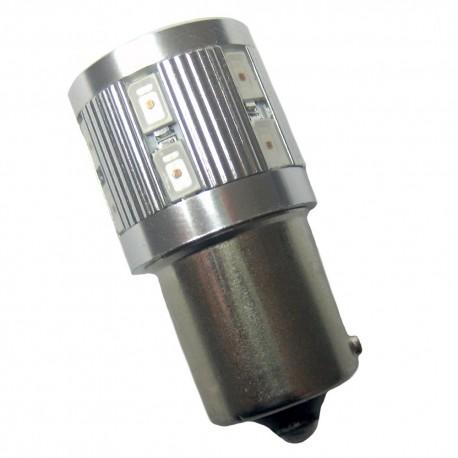 Ampoule P21W BA15S 12+1 Leds ambres 9 à 30 volts
