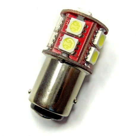 Ampoule P21/5W BAY15D 13 leds blanches 6 volts