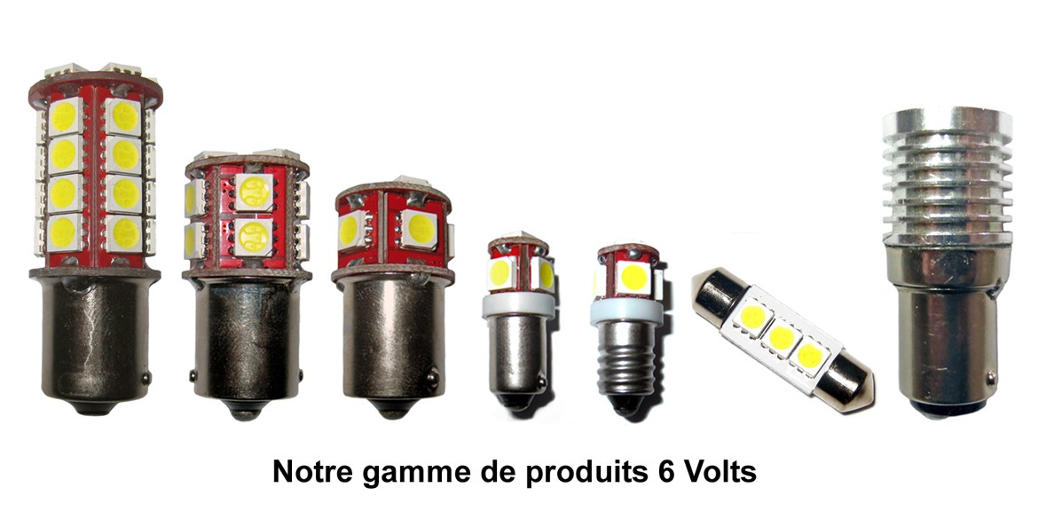 ampoule led en 6 volts